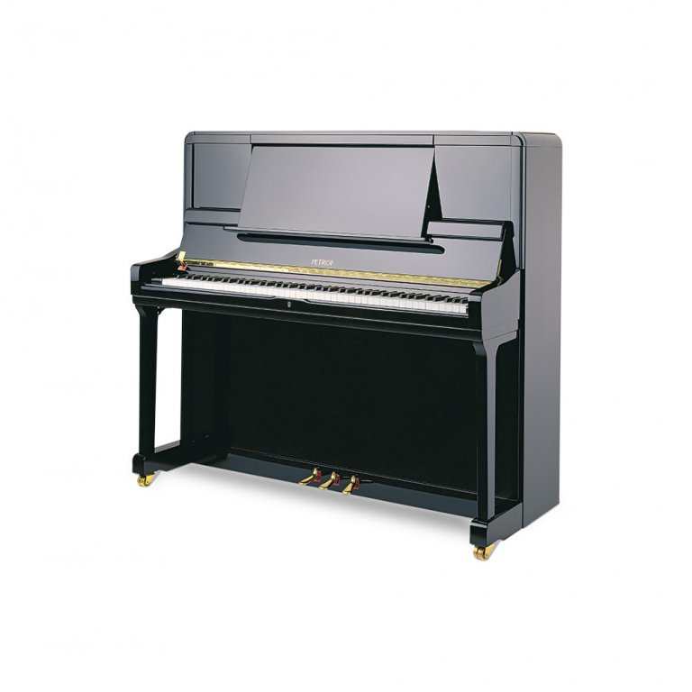 Petrof P 135 K1 Black High Polish Upright Pianos